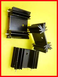 Frete grátis 50 pcs TO-220 Dissipador de Calor Dissipador de Calor para Kit Isolamento de Tensão com 2pin preto de