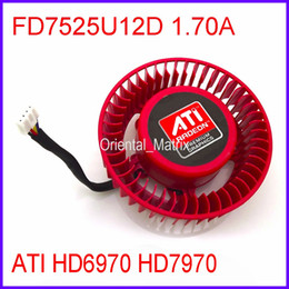 Wholesale Ball Ati - Wholesale- Free Shipping Firstdo FD7525U12D 1.70A 12V For ATI HD6970 HD7970 Graphics Card Cooler Cooling Fan 4Pin 4Wire