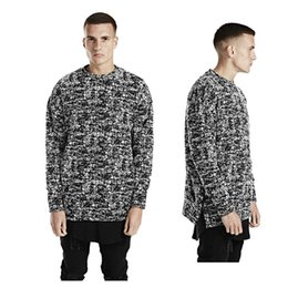 Wholesale Finish Standards - Fashion new 2017 spring hip hop hoodies BLACK ICE sweatshirt dropped shoulder swag clothes finished with side zips streetwear