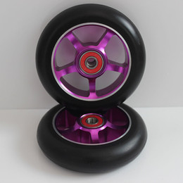 Wholesale Ski Freestyle - Wholesale-2 wheels! Free shipping! Freestyle stunt scooter wheels   roller skis wheels 100mm88A