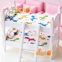 Wholesale Rement Miniature - G05-X430 children baby gift Toy 1:12 Dollhouse mini Furniture Miniature rement children bunk beds horse Strawberry 1pcs