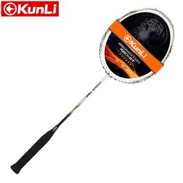 Wholesale full attack - Wholesale- original KUNLI badminton racket FORCE 770 750 full carbon 3U professional TB NANO technology official brand racket attack racket