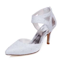 Delicated Ivoire Dentelle Brodé Pompe Pointu Toe Élégance Sandale Chaussures De Mariée Robe De Mariée Chaussures De Chaussures À La Main pour Chaussures De Fête De Mariage ? partir de fabricateur