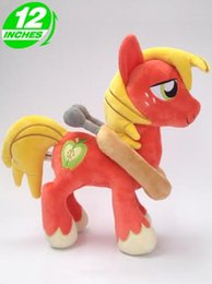 Wholesale Game Horse - 25*35cm 280g my little pony Ty Beanie Boos Plush Kawaii Doll Child Baby Kids Toys Stuffed Animals Horse - - Big Macintosh