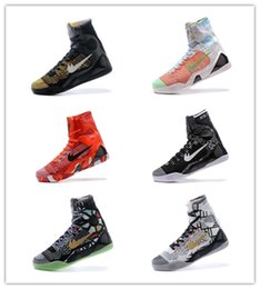 Wholesale Kb Christmas Shoes - 2017 High Quality Kobe 9 Elite Black Mamba Blackout BHM replicas Christmas Men Basketball Shoes KB 9 IX High Sneakers sports shoes