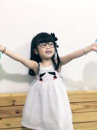 Wholesale Toddler Skirt Suspenders - 2017 Summer Girl Bird Design 100% Cotton Dress Baby Kids Slip Dress White Backless Gored Skirt Infant Toddler Princess Pleated Skirt Dress