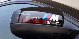 Wholesale Bmw Car Badges - Free shipping Excellent New 3D M rearview mirror car Sticker Badge case for BMW E34 E36 E60 jacket E46 E39 X1 X3