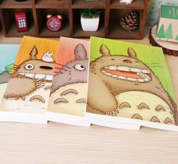 Wholesale Blank Diaries - Wholesale- New Sweet Japan cute cartoon cat series blank Kraft paper notebook Sketch book journal Diary Wholesale