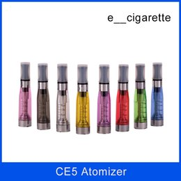 Wholesale Ego Cigarette Ce5 Atomizer Clearomizer - No wick Ce5 atomizer clearomizer Electronic cigarette upgrade CE4 1.6ml No cotton for eGo series e cigarette ego t ego-t atomizers