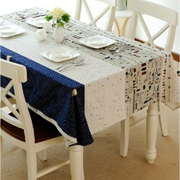 Wholesale Korean Table Decorations - Cotton Linen Tablecloth for Home Dining Table Decorations Korean Style Dustproof Square Splicing Floweryness Fluid Fabric Cloth