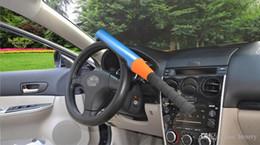 Wholesale Automobile Anti Theft - Medium automobile anti-theft locks 10pcs a bag, anti-theft lock self-defense baseball. Steering wheel lock, Car Safety Products