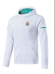 Wholesale Soccer Tracksuit Free Shipping - TOP quality 2017 2018 Real madrid jackets kits 17 18 RONALDO ISCO BALE MODRIC JAMES KROOS tracksuit jacket Sweatshirt free shipping