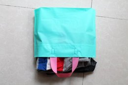 Wholesale Shirt Poly Bags - 35*25*5cm Blue packaging plastic bag t-shirts Clothes bags Poly bag packaging