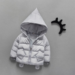 Wholesale Girl S Long Coat Down - Can Custom Boys and girls down cotton childrens jacket winter 1-2-3-year-old baby thick coat baby cartoon cotton coats