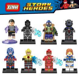 Wholesale Bane Toys - DC Super Heroes Cosmic Boy Lightning Lad Arkham Knight Atom Bane Black Flash Minifigure Building Block Toy X0119