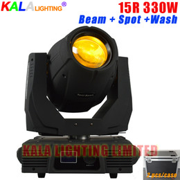 Wholesale 15r Moving Head - (2Pcs Lot With Flycase) High Brightness Multi-functions 15R 330W Moving Head Beam Spot Wash 3in1 Light