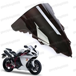 Wholesale Windscreen Yamaha - New Motorcycle Double Bubble Windscreen Fairing Windshield Lens ABS for Yamaha YZF R1 2009-2014 2010 2011 2012 2013