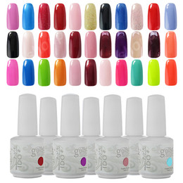 Wholesale Nail Polish Colors Uv - Any 10 Colors UV Gel IDO Gelish 220 Colours Nail Art Soak Off Gel Nail Polish Base Top Coat Cosmetic Set