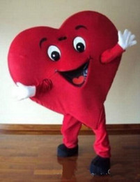 Wholesale Heart Costumes Adults - High quality !!! Red Heart of Adult Mascot Costume Adult Size Fancy Heart Mascot Costume free shipping