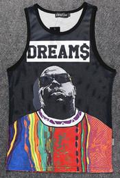 Wholesale Biggie Tank Top - Wholesale- Men Fashion tops It Was All A Dreams Notorious Biggie Smalls B.I.G Vest Hip-Hop Tank Top Undershirt jersey