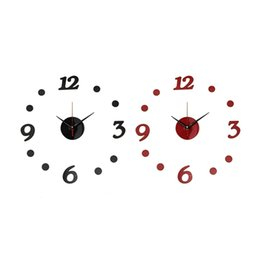 Beautiful Design New Diy Acrylic Mirror Modern Wall Clock Stickers Art Home Decals Decoration Excellent Quality In Bulk Price