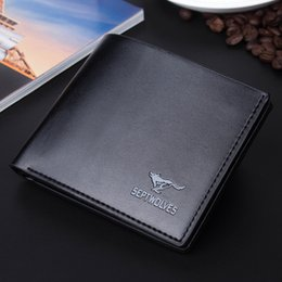 Wholesale European Men Business Suits - 1PC Men Short Wallet Men's Casual Fashion Simulation Leather Wallet Men Wallets Purse Suit Bags Designer Wallet Free Shipping