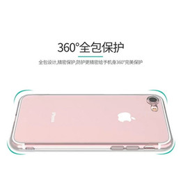 Wholesale Dust Covers For Cell Phones - Soft TPU Case With Dust Plug Clear For Iphone 7 7Plus Iphone7 I7 7TH 7GEN Transparent Silicone gel Rubber Cell Phone Shell skin Cover Luxury