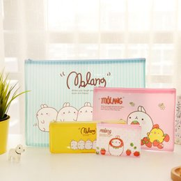 Wholesale Cute A4 Files - Wholesale-Cute Molang A4 A5 B6 Mini File Bag Document Bag File Folder Stationery Filing Production School Office Supply