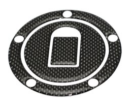 Wholesale Gas Tank Cap Pad - Real Carbon Fiber Tank Gas Cap Pad Filler Cover Sticker Decals Fit for KAWASAKI ZX-6R ZX-9R ZX-10R Z1000 Z750 old-Model