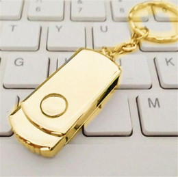 Wholesale gold disks - Gold Silver Metal 64GB 128GB 256GB USB 2.0 Flash Drive Memory for Android ISO Smartphones Tablets PenDrives U Disk