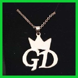 Wholesale Bigbang Necklace - Korea Star Bigbang GD G-dragon Necklace Fashion Jewelry Chain Hot Sales Gift For Free Shipping Wholesale Lot Vintage Kpop