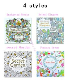 Wholesale Books For Children - 1pcs Relieve Stress Kill Time Graffiti Painting Drawing Coloring Book Secret Garden & Animal Kingdom ,Treasure Hunt Book For Children Adult