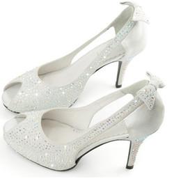 Wholesale Ladies Shoes Promotion - High Quality Promotion Woman Formal Dress Shoes Lady Wedding Bridal Shoes High Heel Peep Toe Shoes Party Evening Banquet Pumps Sandal