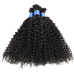Wholesale Hair Mixed Bulk - In stock factory price human hair bulk 3pcs, brazilian bulk hair for braiding, afro kinky curly human bulk hair for braiding