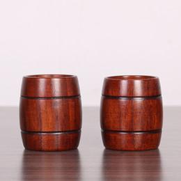 Fare tazze online-Tazza di legno Primitive fatto a mano Tipo di botte di birra naturale Latte per il tè Tazza di caffè ECO Friendly Drinkware 6 5zz F R