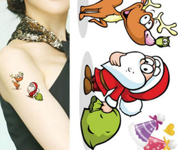 Wholesale Beautiful Back Tattoos - Beautiful Body Art Waterproof Temporary Tattoos For Children 3d DIY Christmas Gift Design Small Arm Tattoo Sticker