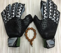 Wholesale Leather Mittens Fingers - perfect quality football goalkeeper gloves finger protection sports goods Soccer Goalie Gloves competition training gloves