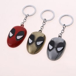 Wholesale Marvel Comics Spider - Hot Sale Marvel Comics Theme Super Hero The Avengers Spider-Man Metal Keychain To Boy Gift Key Chain Key Ring