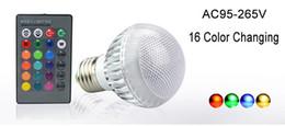 Canada La nouvelle couleur de module du globe 16 changeant l'ampoule de boule du globe 9W RVB LED allume la lampe E27 B22 avec à télécommande supplier 9w rgb light bulb b22 Offre