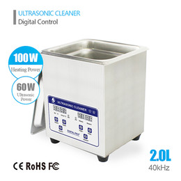 Wholesale Ultrasonic Parts Cleaners - 2.0L Ultrasonic Cleaner for Auto Engine Parts, Moto Auto parts, Commercial Component,Hospital Medical Equipment Devices Cleaning
