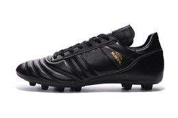Wholesale World For Leather - New Mens Copa Mundial Leather FG Soccer Shoes Cheap Soccer Cleats For Men Football Boots World Cup Football Cleats Soccer Boots Size US 6-11