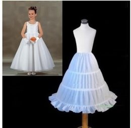 Wholesale Three Dresses - 2016 New Three Circle Hoop Children Kid Dress Slip White Ball Gown Flower Girl Dress Wedding Accessories Petticoat