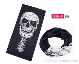 Wholesale Violet Scarves - 24 Styles Halloween Scary Mask Skull Masks Skeleton Outdoor Motorcycle Bicycle Multi Masks Scarf Half Face Mask Cap Neck Ghost