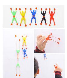 Wholesale Sticky Men - Kids Toys Color Random Flexible Men Sticky Wall Climbing Flip Spider Man 200pcs