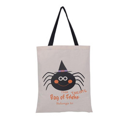 Halloween bonbons sacs 6 styles Trick or treat Sacs à main 2016 Vente Chaude Grande Toile Citrouille Devil Spider Sacs-cadeaux ? partir de fabricateur