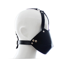 Wholesale Trainer Ball Gag Harnesses - New Sex Bondage Head Harnesses Muzzles Mouth Mask Ball Gag Panel Ballgags Adult Slave Trainer Gags