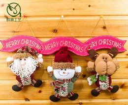 2019 portes de noel Poupée suspendue de Noël Nouvel décor de Noël à suspendre Décorations de porte d'arbre de Noël Pendentif à suspendre 27 X 16 cm cadeau de Noël portes de noel pas cher