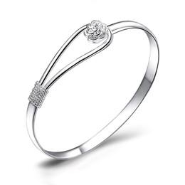 Стерлингового серебра 925 романтический цветок браслеты мода Шарм браслеты комплект 925 серебряные женщины тибетский браслет свадебные ювелирные изделия cheap bridal jewelry set 925 silver от Поставщики комплект для новобрачных 925 пробы