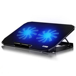 Laptop cooling pads online-Laptop Cooling Pads USB Interface Stand para Laptop Cooler Notebook Stand Laptop Cooling Pad Radiador Dos grandes ventiladores de alta calidad
