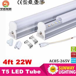 Wholesale Big Strips - Big Sales!T5 LED Integrated Strip 22W 120cm 4 foot 4 FT LED Tube light Epistar SMD2835 AC85-265V UL&CE Listed